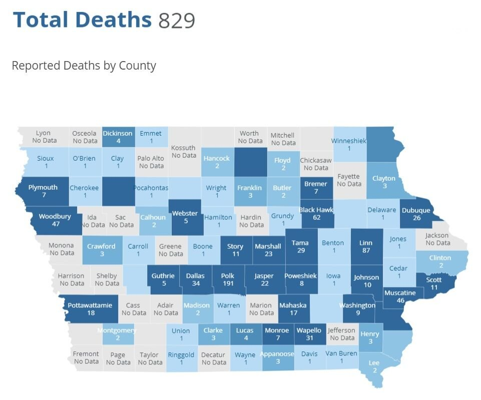 COVID-19 Deaths, July 27, 2020