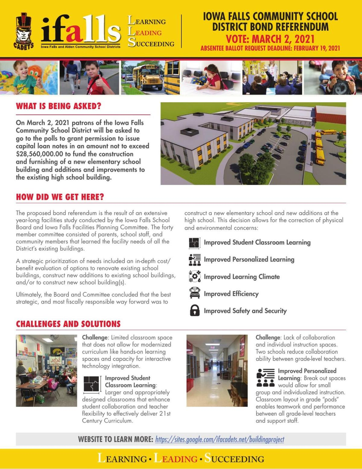 Iowa Falls School Bond Informational Flyer