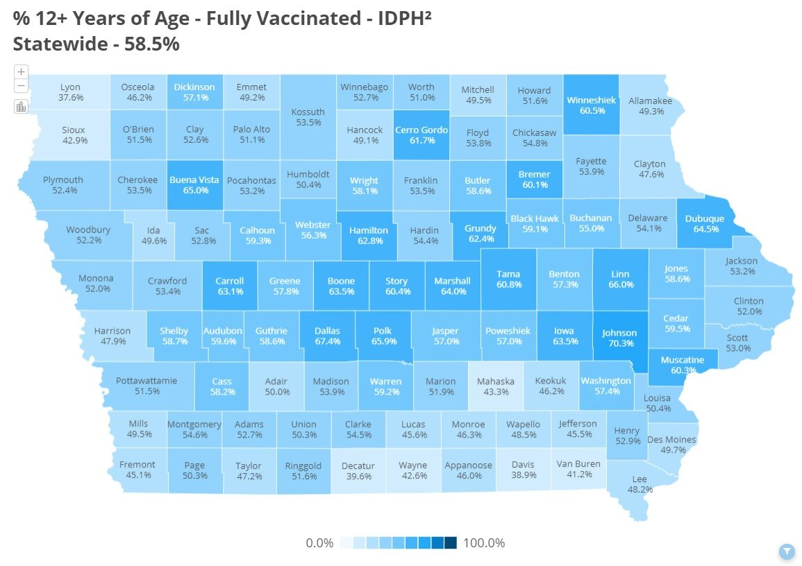 COVID Vaccinations Over 12