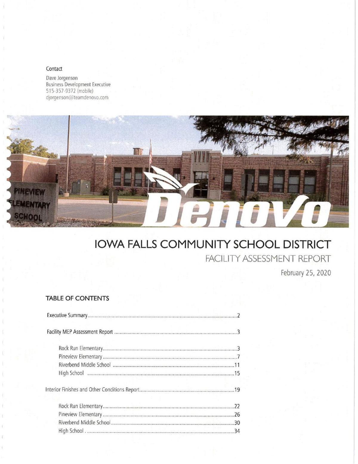 Iowa Falls Schools Facilities Assessment Report