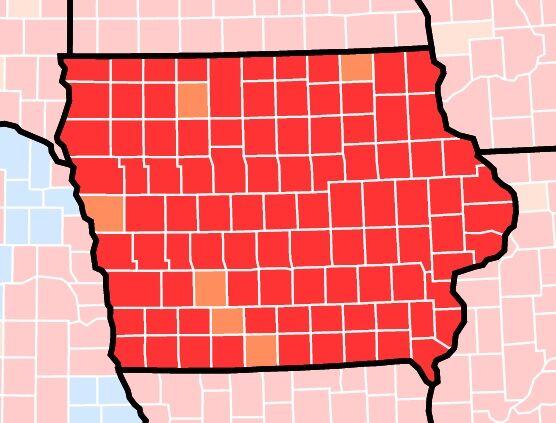 Iowa CDC Map