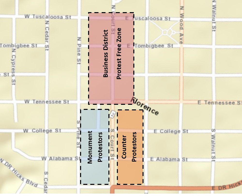 Protest map