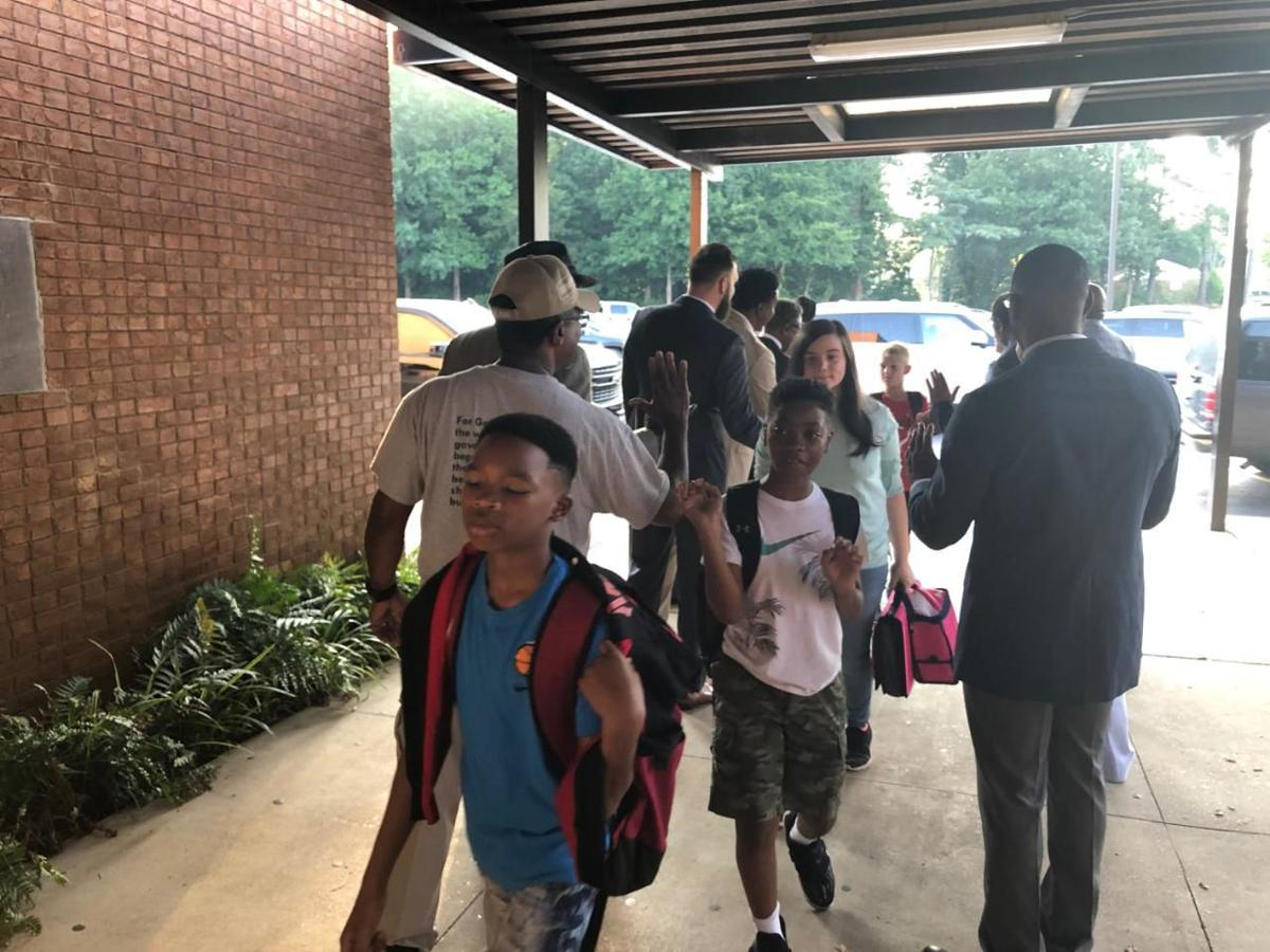 Students receive special greeting as school starts