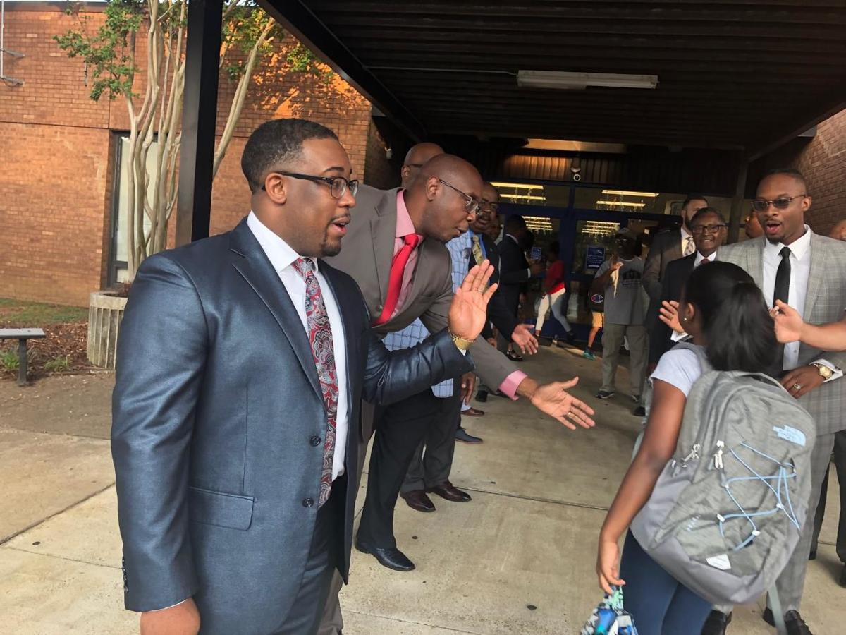 Students welcomed by special greeters