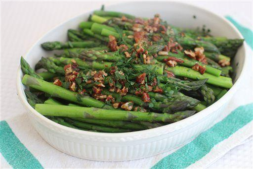 Dressing up spring asparagus with an easy brown butter sauce
