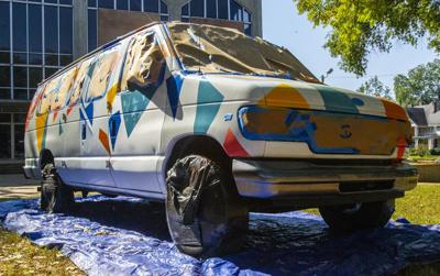 Art deco van to serve Room in the Inn