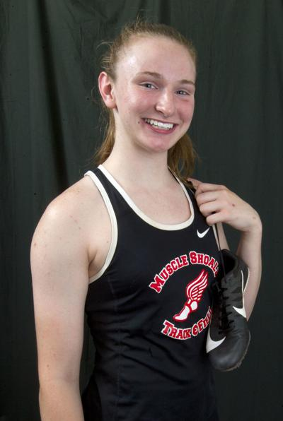Kaylie Wright all-area track Muscle Shoals