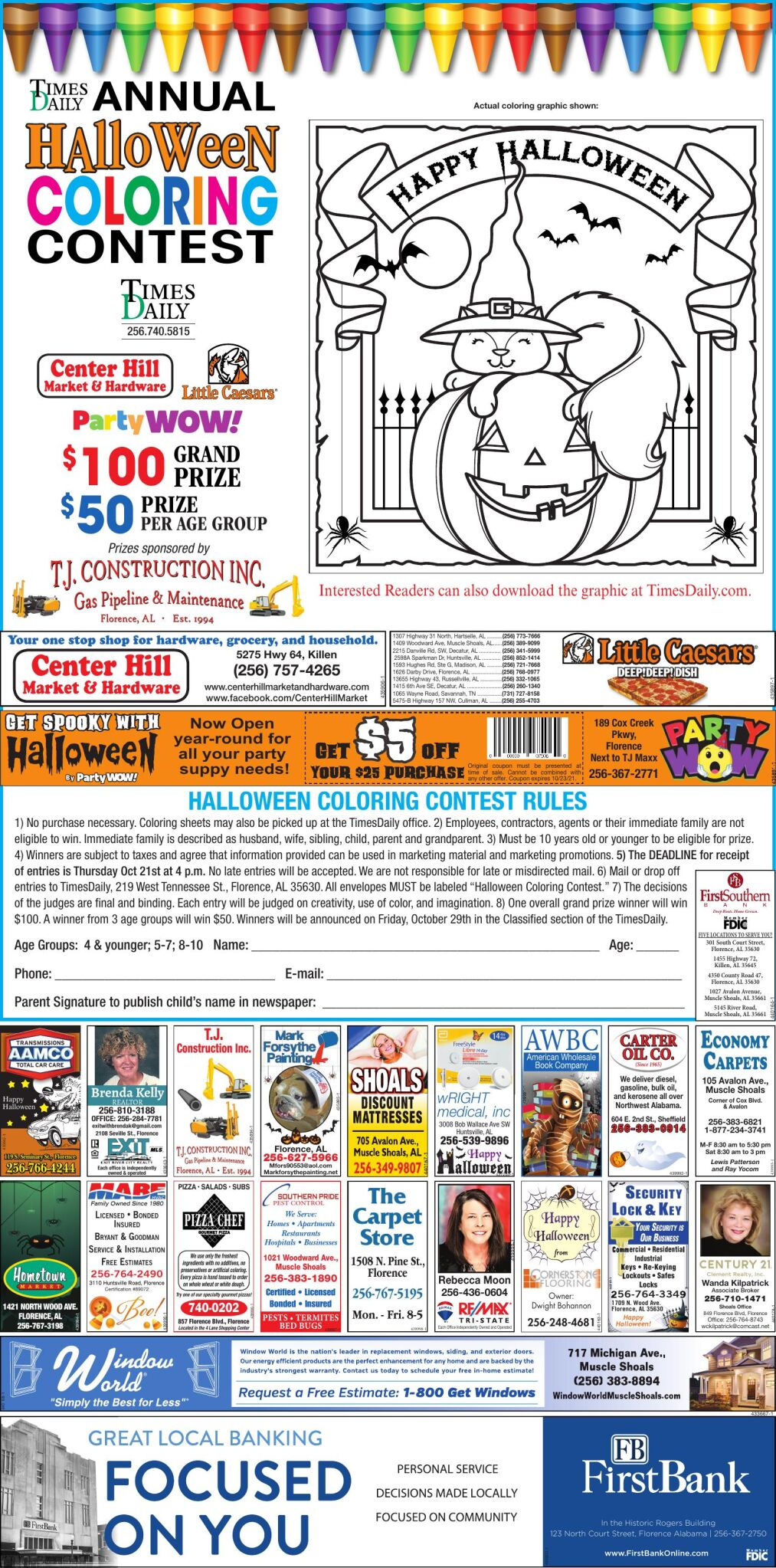 2021 Halloween Coloring Contest