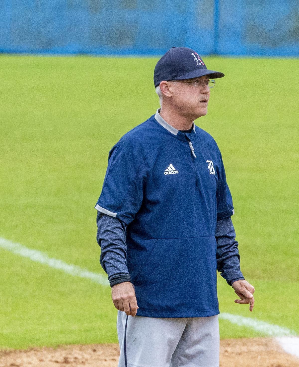 Rogers baseball coach Scott Mitchell