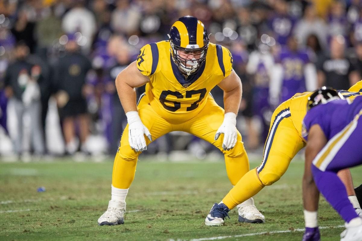 Chandler Brewer with the Los Angeles Rams