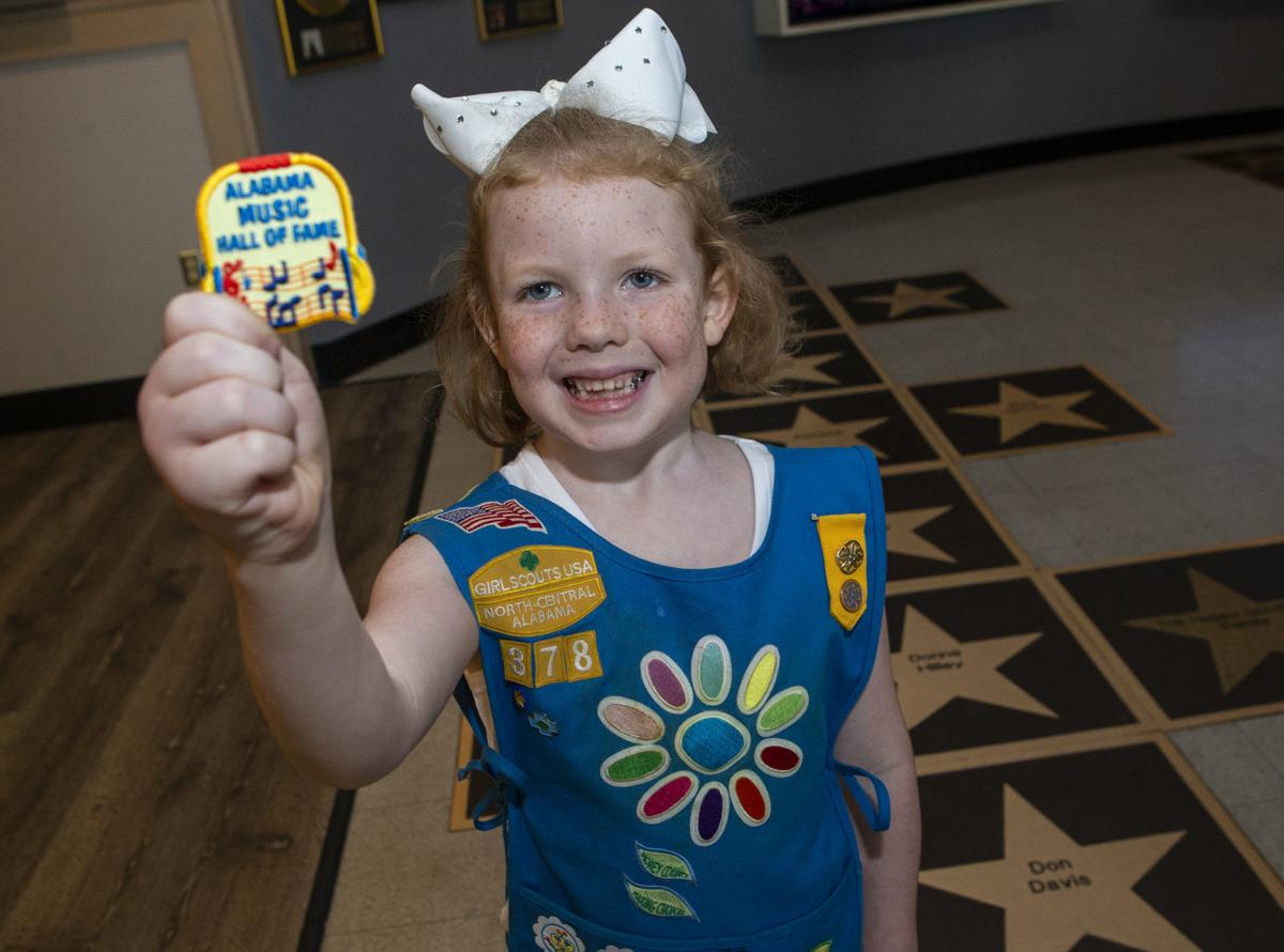 Girls Scouts earn Alabama Music Hall of Fame merit patches