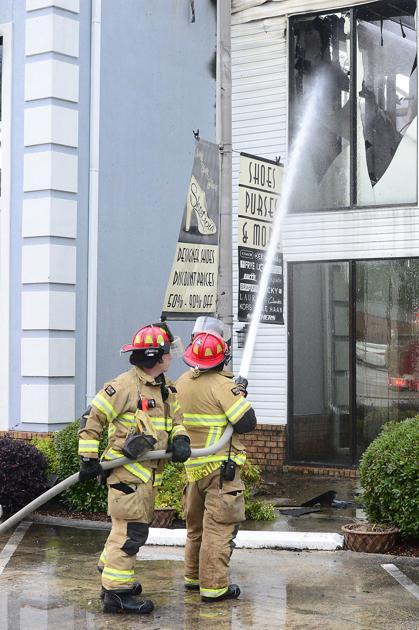 Fallen powerlines cause blaze in Muscle Shoals