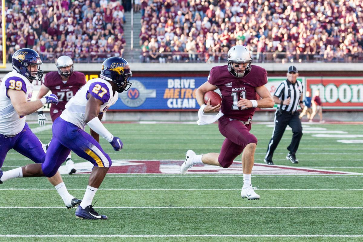 Montana football quarterback Dalton Sneed