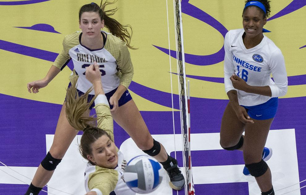 UNA volleyball falls short against Tennessee State