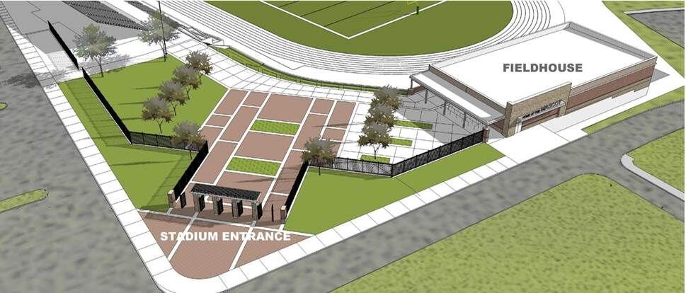 West Ridge High football field entrance high resolution