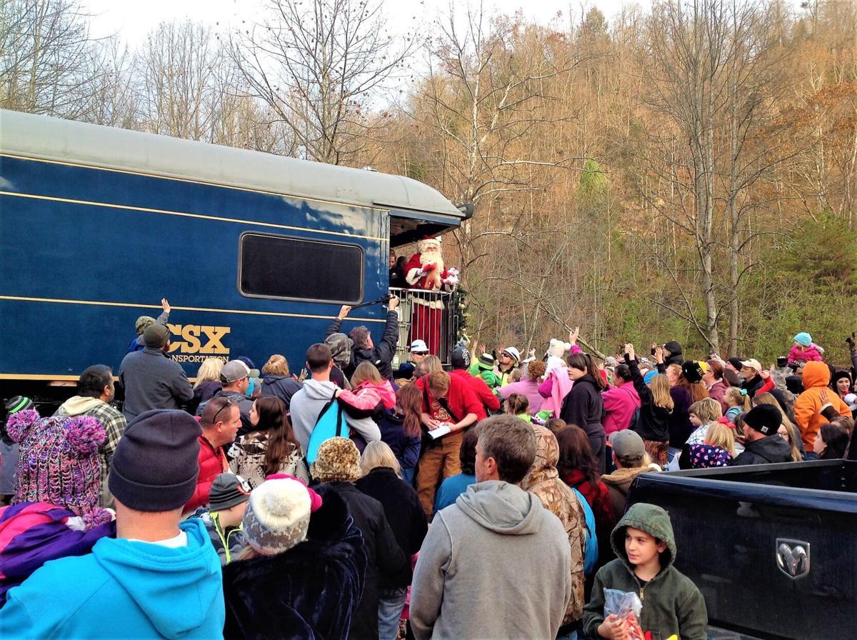 Santa Train always draws a crowd