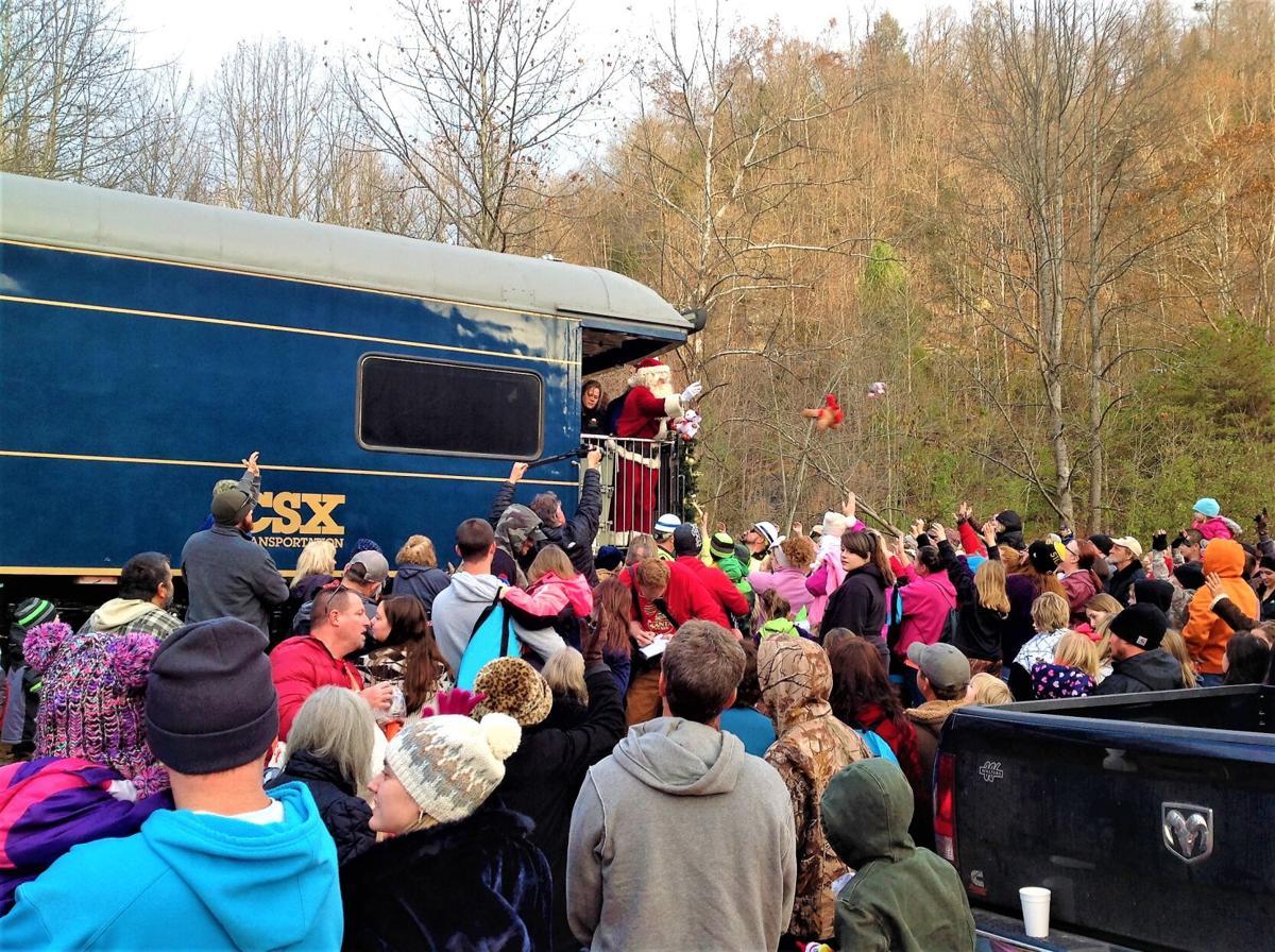 The Santa Train always draws a crowd.