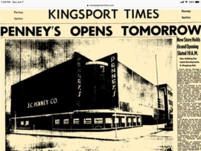 So long, old friend: J.C. Penney has been in Kingsport since 1923