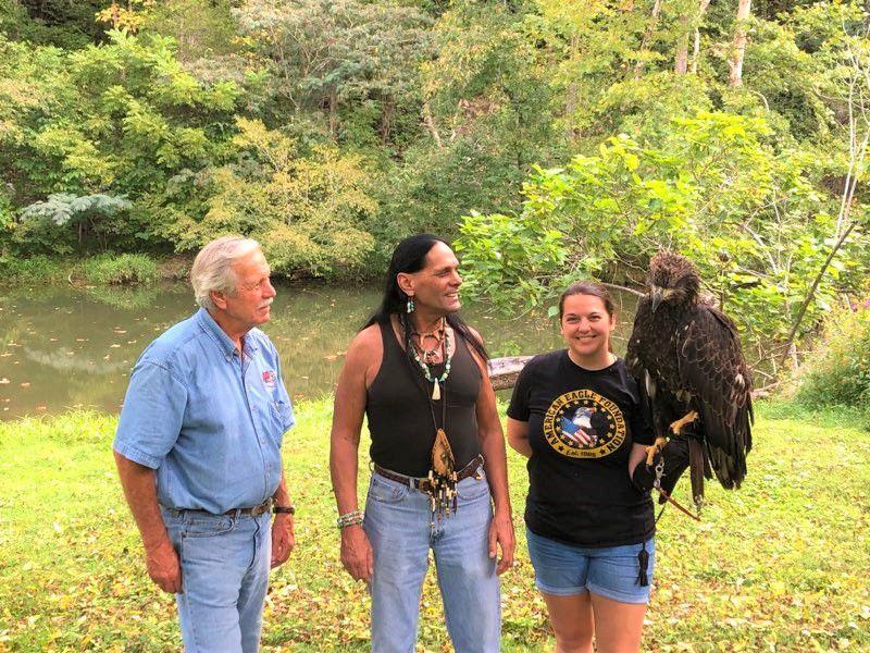 Indian gathering organizer Stonewolf senses the presence of his ancestors at Amis Mill