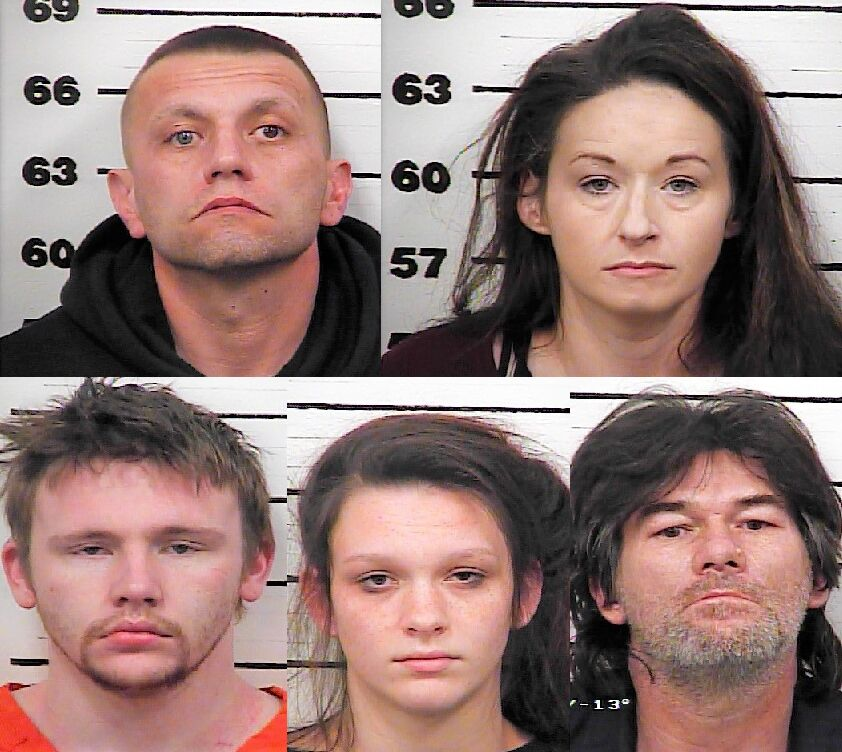 Top: Jason E. Harris and Jamie May Southerland. Bottom: Corey Dewayne Harris, Danielle Paige Hall and Jason Rogers.