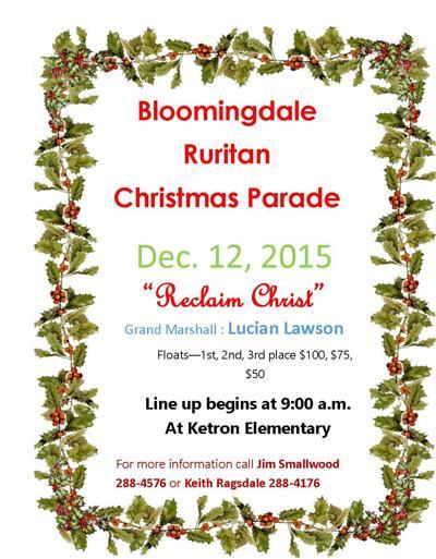 Bloomingdale Ruritan Christmas Parade is set Saturday, Dec. 12