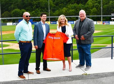 Blackburn visits Axmen officials at Kingsport's Hunter Wright Stadium