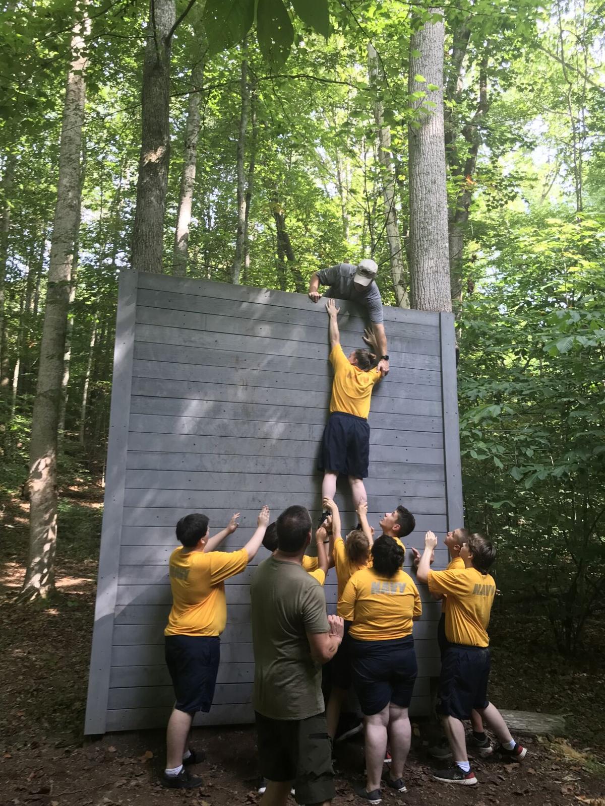 Volunteer High School NJROTC conducts team building