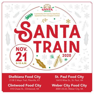 Santa Train gift distribution locations