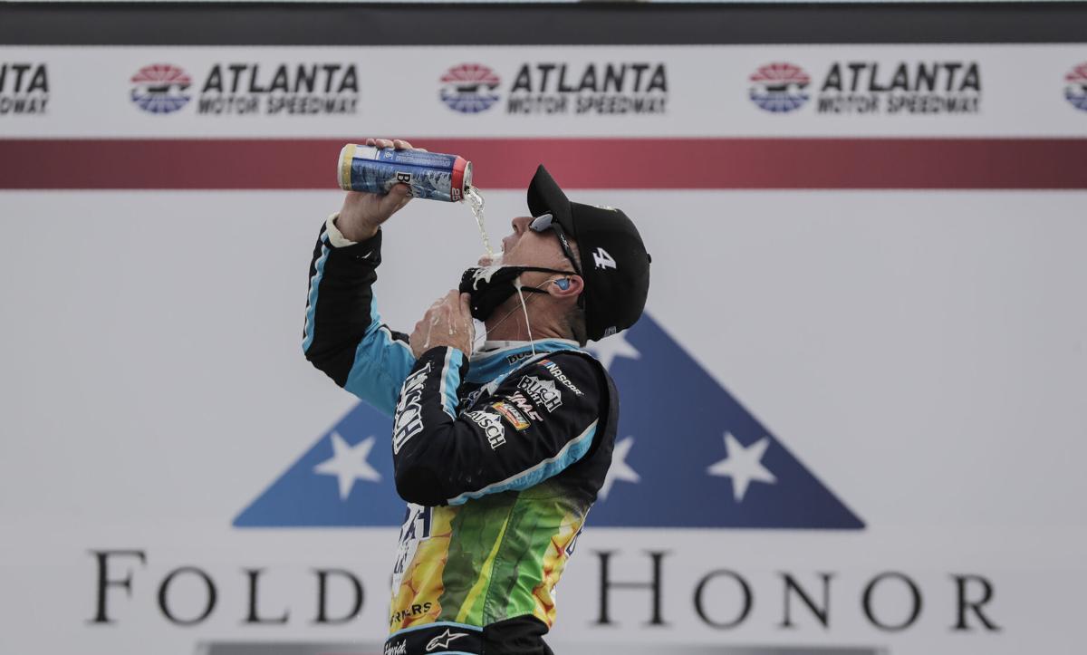 Harvick cherishes Atlanta win, looks to help off the track