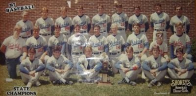 Sullivan South 1987 state baseball champs
