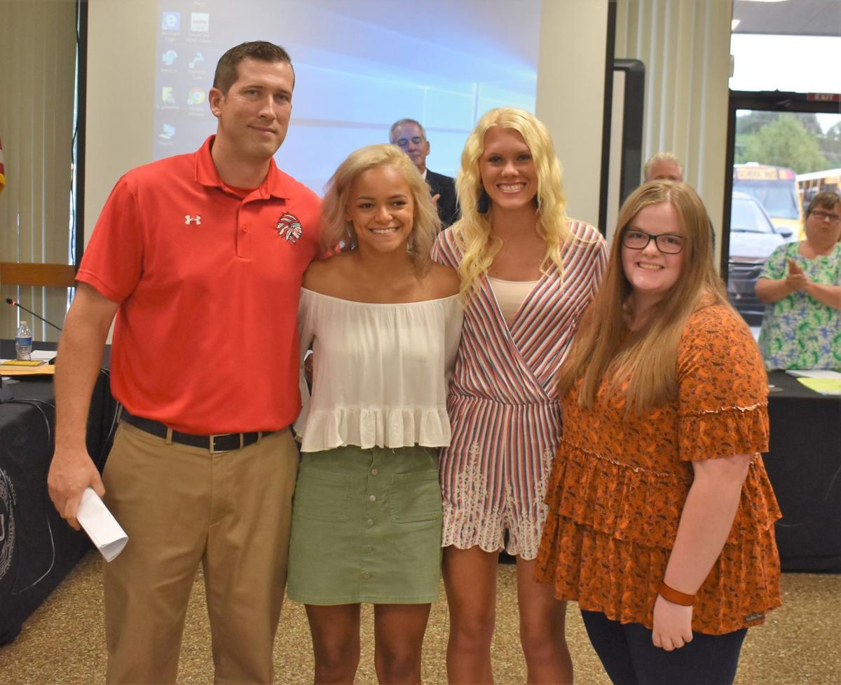 Hawkins BOE honors state track meet competitors from three schools