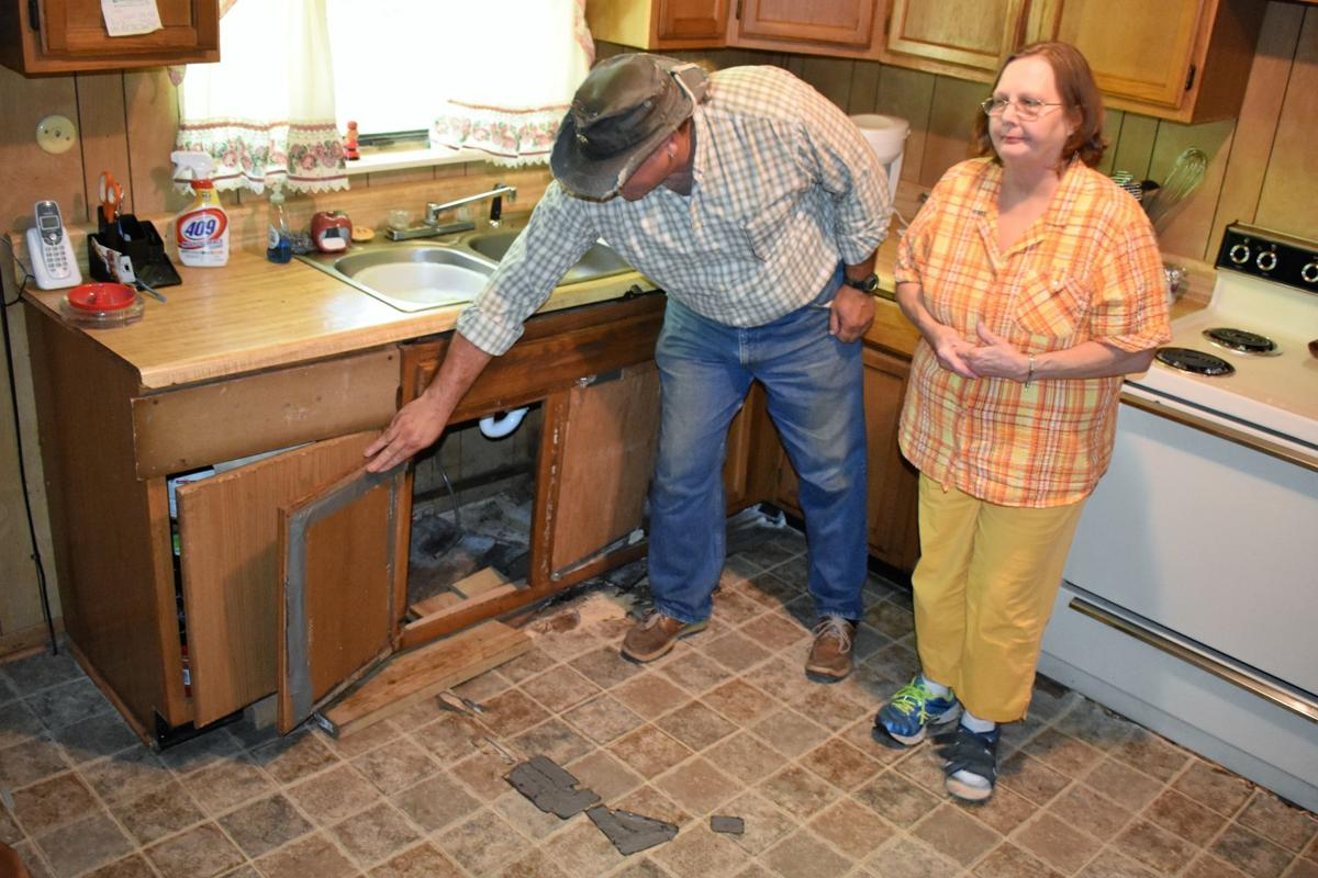 'A really good surprise': Church mission to repair Hawkins widow's kitchen floor