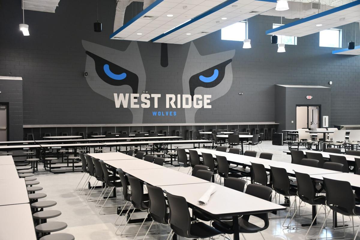 West Ridge cafeteria wolf eyes mural