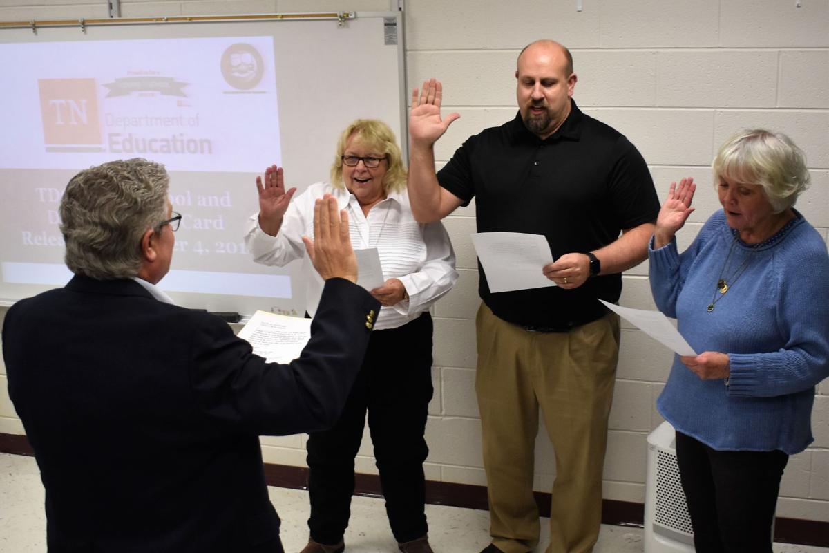 Two veterans, one new member sworn in to Rogersville City School BOE