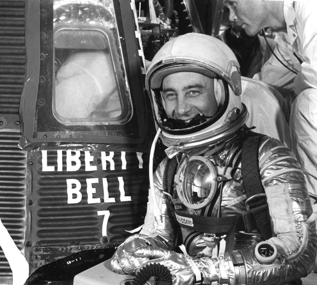 Grissom prepares to enter Liberty Bell 7
