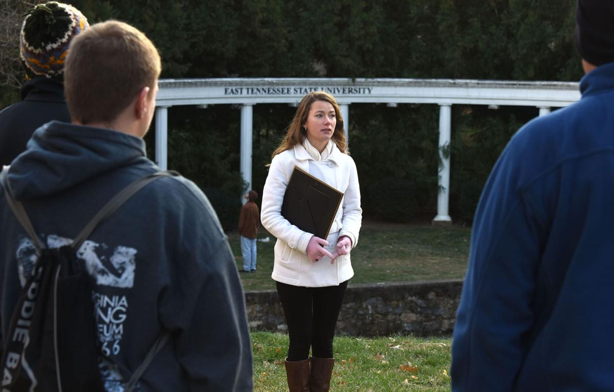 History student leads tour of ETSU campus