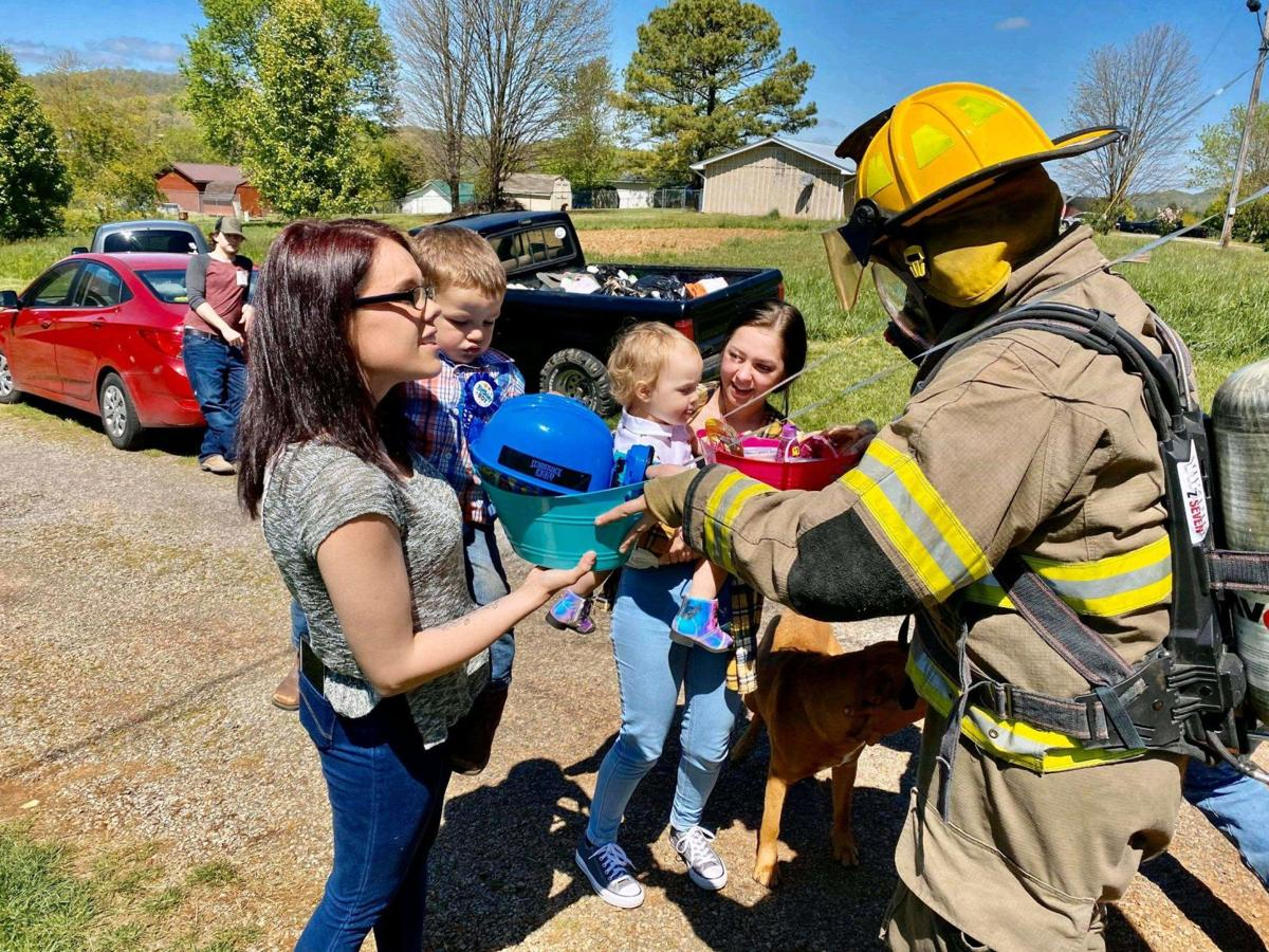 Fire, rescue and police deliver 'emergency' birthday presents to Hawkins toddlers