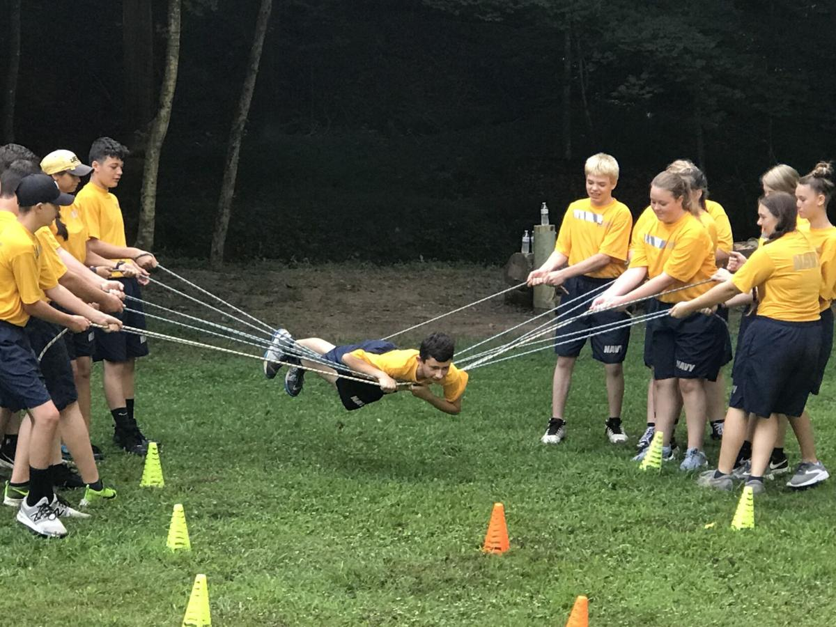 Volunteer NJROTC cadets tackle COPE course