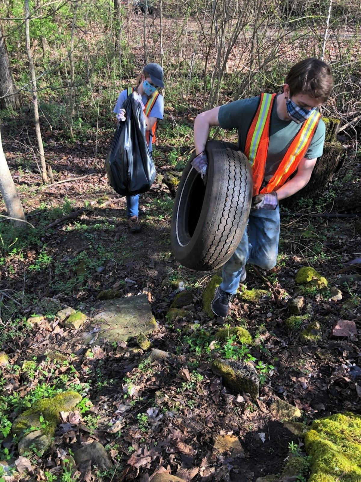 Tusculum students, faculty team up for cleanup