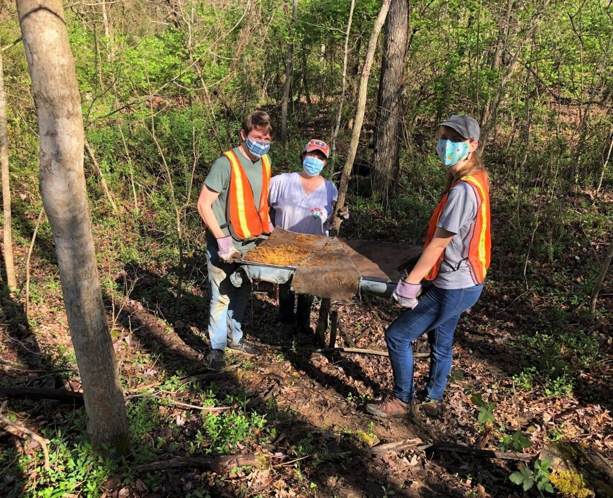 Tusculum faculty, staff team up to clean section of College Creek