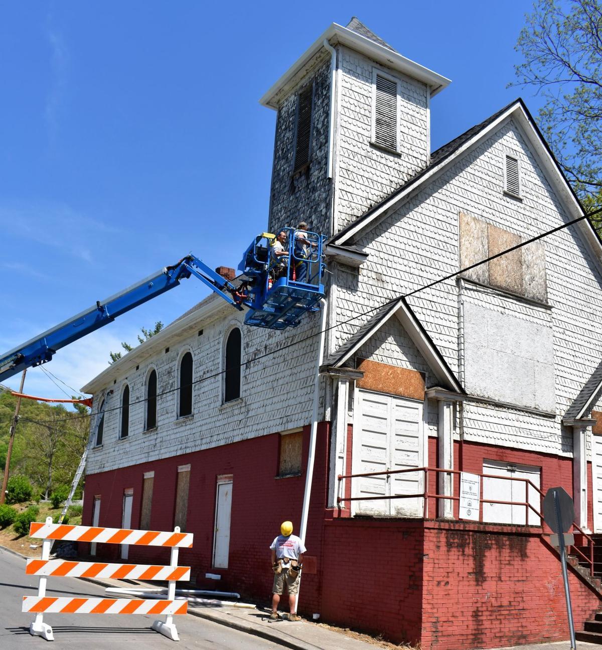 Exterior renovations continue on historic Rogersville church