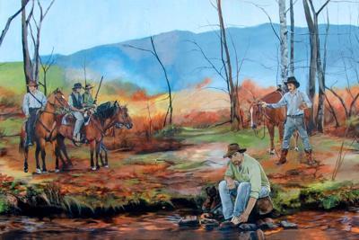 Tom Dooley Mural in Johnson County