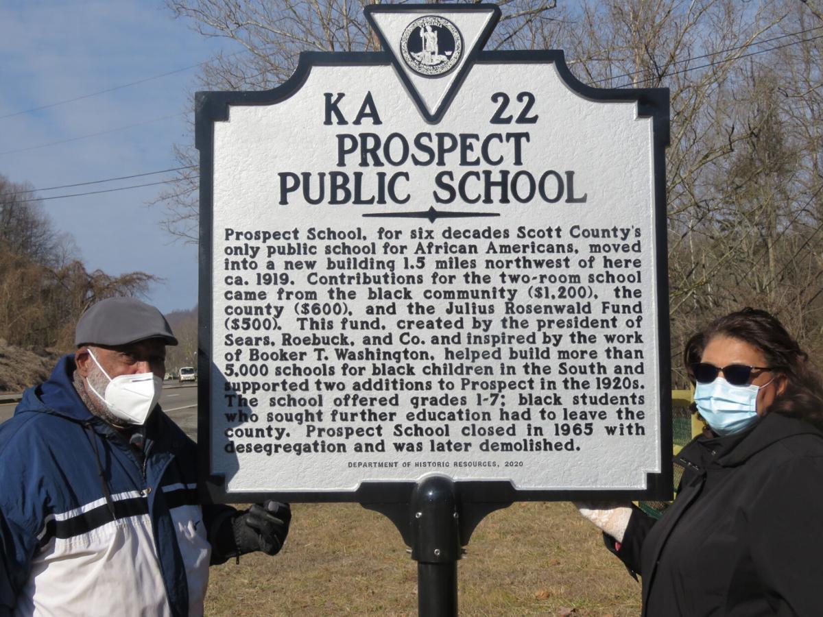 Prospect school historical marker