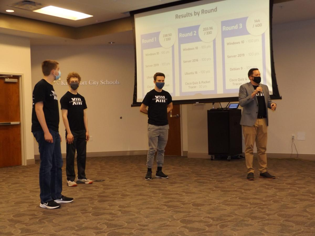 Cybersecurity competition team from Dobyns-Bennett