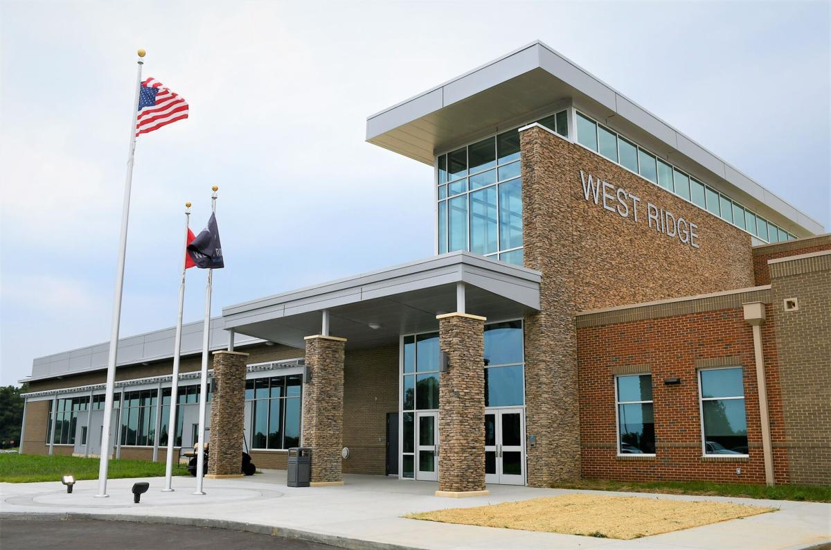 West Ridge High School's main entrance