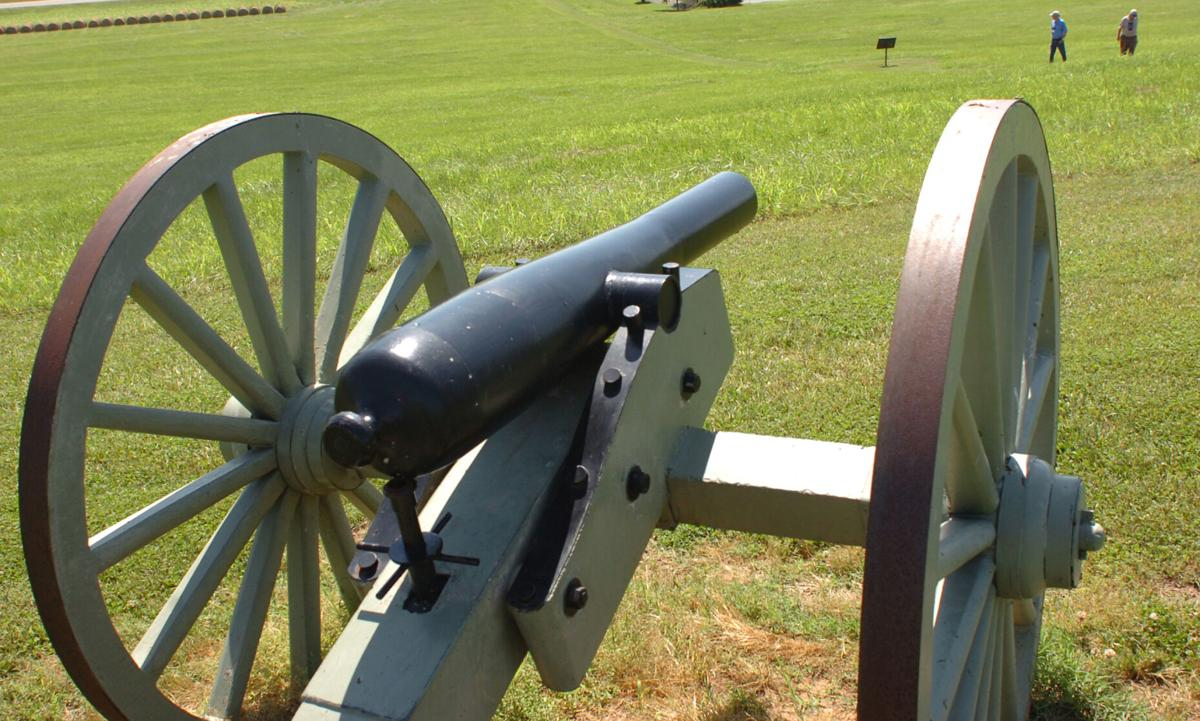 Spring Hill battlefield cannon