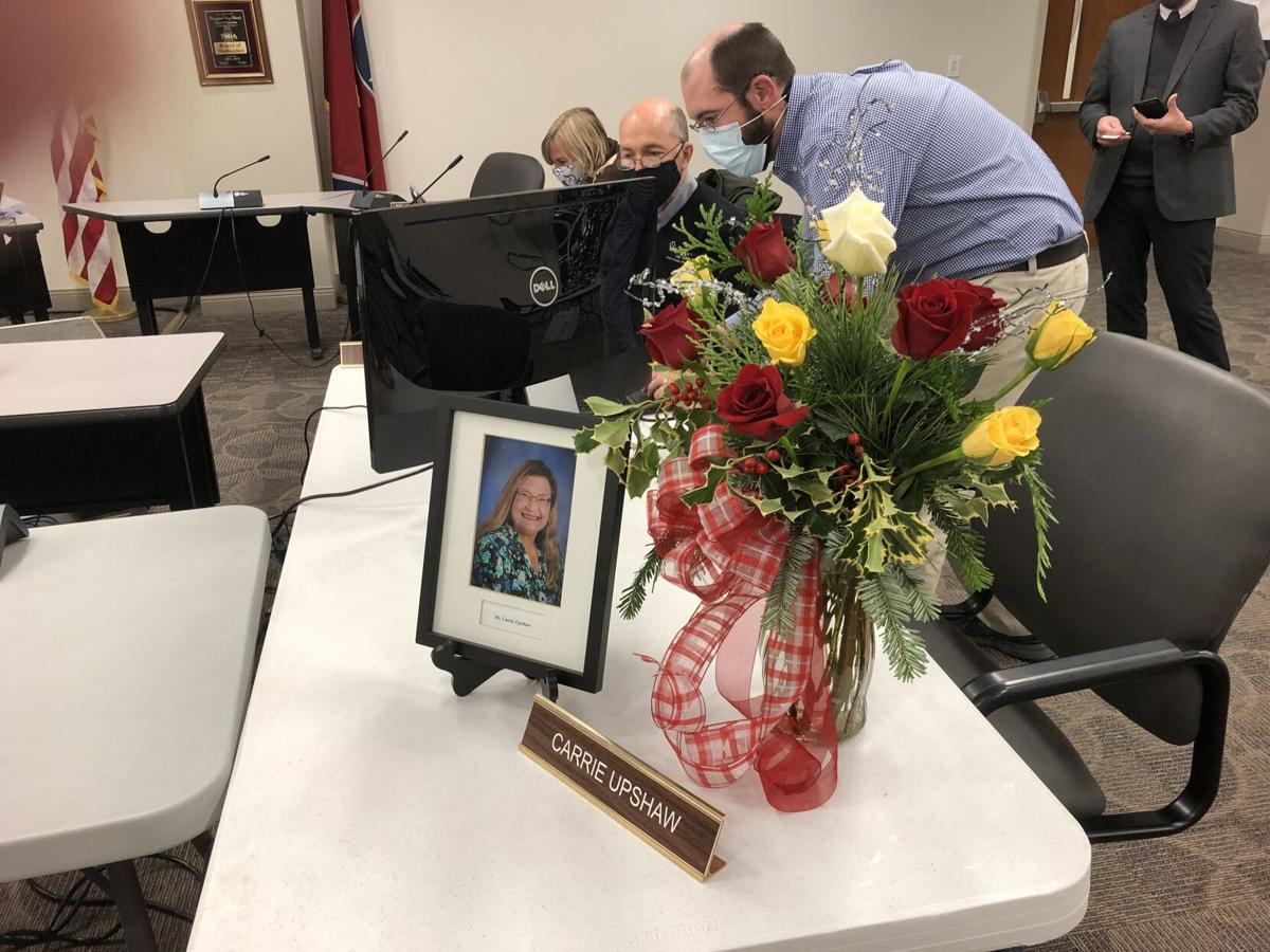 Flowers, photo honoring Carrier Upshaw