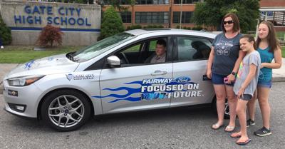Gate City student wins car for good attendance on birthday