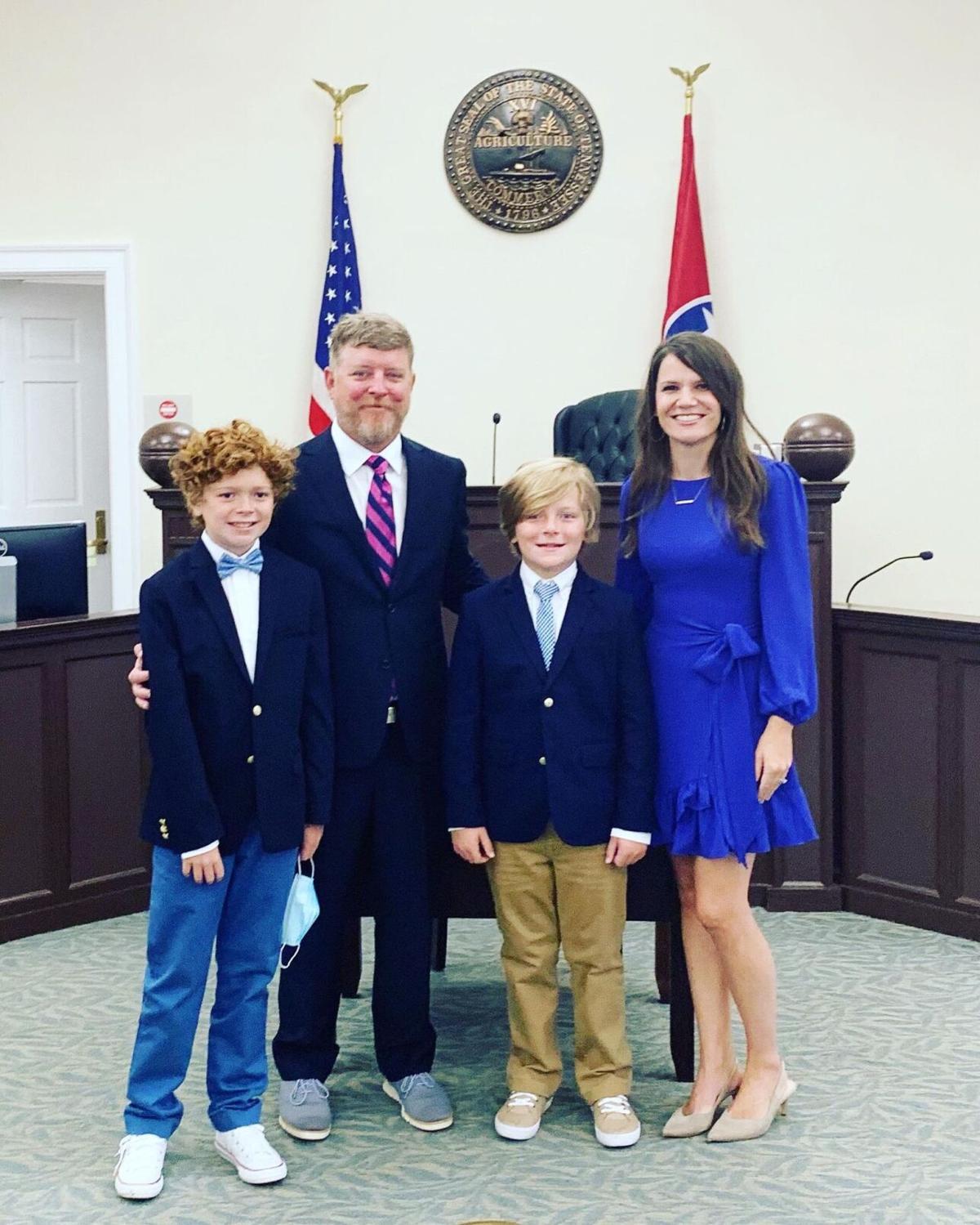 Third Judicial District Circuit Judge William Phillips and family