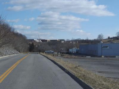 The view from Jericho Drive looking toward new West Ridge High School. Second Harvest Foodbank of Northeast Tennessee on the right.